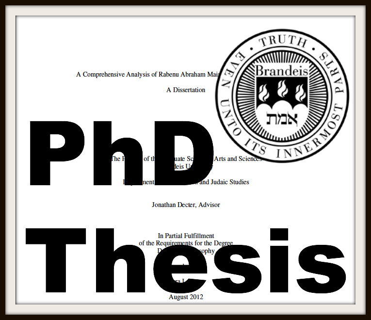 Rabbi Dr. Ezra Labaton Philosophy Phd Thesis Brandeis University Dissertation
